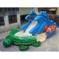 Quality Sea Turtle Inflatable Water Slide for sale