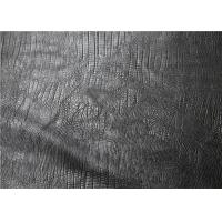 Quality Embossed Leather Fabric For Handbags PU + Tatting Fabric Composition for sale