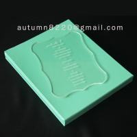 Quality B IC (2) special design acrylic wedding invitation card for sale