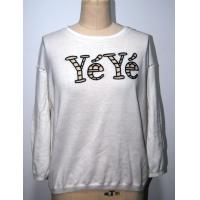 Quality Combed Cotton Floral Print Sweater With Letters Embroidery BGAX16290 for sale