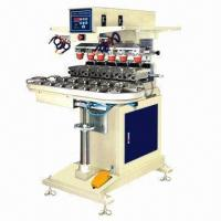 Quality Pneumatic 6 Colors Tampo Printing Machine with Conveyor for sale