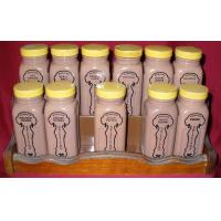 Quality 2012 market promotional glass condiment set with rack for sale