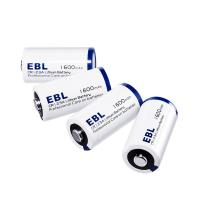 Quality EBL 4 Pack Lithium CR123A 3V Batteries 1600mah , Battery Case Included Eco-friendly Battery for sale