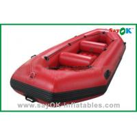 Quality Durable Adults PVC Rigid Inflatable Boats 3 - 8 Persons Water Park Entertainment for sale