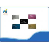 Quality Laser Blank Metal Sublimation Business Cards for sale