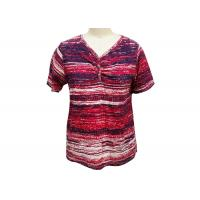 Quality Irregularly Shape Ladies Striped T Shirt , Women'S Collared T Shirts Quick Dry for sale