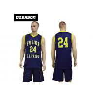 Quality New Design Sublimation Custom Reversible Basketball Jersey Design for sale