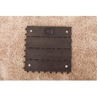 Quality Wpc decks with solar light outdoor flooring with solar shining in the night for sale