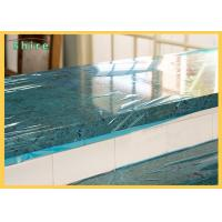 Self LDPE Dust Barrier PE Temporary Protective Film , Plastic Marble Protective Film for sale