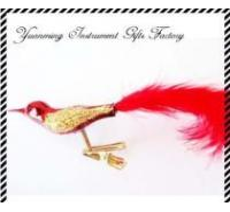 Quality High Quality Glass Bird  Christmas Tree Decoration for sale