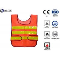 Quality Glistening Safety Reflective Jacket , Security Safety Vest Warning Loop Closed for sale
