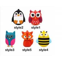 China Special Design usb flash drive 64gb pendrive 16gb u disk 4gb High Speed Fox Usb 2.0 flash card cartoon on sale