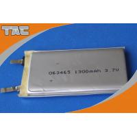 Quality GSP063465 3.7V 1300mAh Polymer Lithium Ion Battery cells with high capacity for sale
