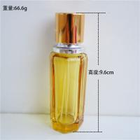 China refillable perfume spray bottle 25ml  recycled glass bottles black blue red pink green cap plastic and metal roll frog on sale