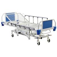 Quality 4 Function Hydraulic Medical Patient Bed With Aluminum Alloy Side Rails for sale