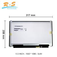 Buy cheap Contrast Ratio 800 / 1 IPS LCD Screen For Laptop Replacement B133HAN04.0 from wholesalers