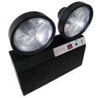 China Steel Casing Black 2x1.5W Two heads LED Emergency Light With Test Button on sale