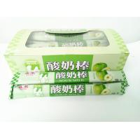 Quality 14g Green Apple Flavor Chewing Yogurt Sticks With Milk Flavor For Kids for sale