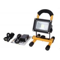 Quality 10W Waterproof Rechargeable LED Flood Lights Black Aluminum 4 Hours Portable for sale