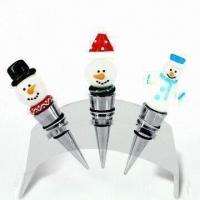 China Wine bottle stoppers, with glass ornaments, suitable for wine series tools on sale