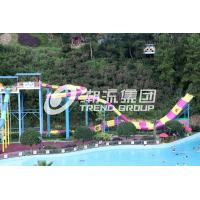 Quality Customized Water Park Equipment Exciting Swwiming Pool Fiberglass Waterslides For Adults for sale