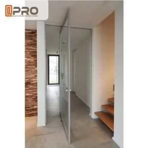 China Internal Aluminum Pivot Sliding Door With Double Glazed Glass Wind Load Resistance Pivot Exterior door pivot hinge door on sale