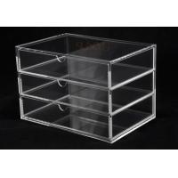 Buy OEM 3 Tier Drawers Custom Store Fixture Clear Acrylic Storage For Supermarket at wholesale prices