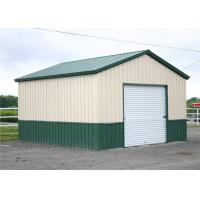 China Clear Span Steel Barn Structures With High Security Slop Straight Roof on sale