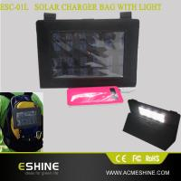 China Hotsale ipad solar charger | the newest solar charger bag with lighting function on sale