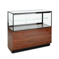 Quality Mahogany Laminate Lucite Locking Jewelry Display Case With Storage Cabinet for sale
