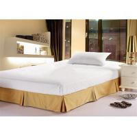 Quality Fashion Hotel Bed Skirts Light Yellow With 100% Polyester King Size for sale