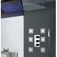 Buy High - End Color Changing Ceiling Mounted Rain Shower Head With Body Jet , at wholesale prices