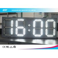 Quality White And White Led Clock Digital Clocks With Large Display , Long Lifespan for sale