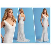Quality Sheath Chiffon Beach wedding dress Bridal gown#6653 for sale