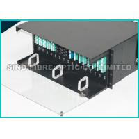Quality 4U MTP / MPO Rack Mount Patch Panel Fiber Optic Assembly 384 Cable Management Bar for sale