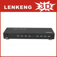 China LKV318 HDMI Splitter 1 input 8 output support 3D with remote control for sale