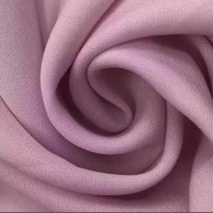 China 100% Polyester 75D*75D Diamond Hemp Style Plain Dyed Cloth Material Fabric/Chiffon Crepe Fabric on sale