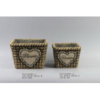 Quality Woven Design Modern Cement Planters for sale