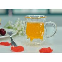 Quality Handle Double Wall Borosilicate Glass , Milk Double Layer Glasses for sale