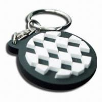 Quality PVC Couple Keychain, Customized Designs and Sizes are Welcome, Ideal for Promotion for sale