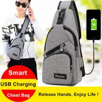 Buy cheap USB Charging Interface Small Hiking Backpack With One Strap Leisure Canvas from wholesalers