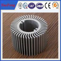 Buy Aluminum round heat sink extrusion, Custom made round clear anodized aluminum at wholesale prices