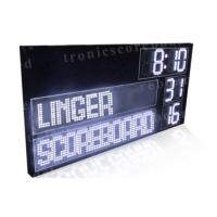 Quality P16mm LED Football Scoreboard With White Color Digits Easy Maintenance for sale