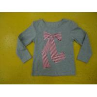 Quality Big Bow Chest  Girls Stylish Top Girls Crew Neck T Shirt Top Nice Hand Feel for sale