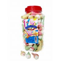 Quality Jar Packaging Snacks Ice Cream Shape  Fruity Flavor Marshmallow Candy ,  Customized Marshmallow Sweets And Soft for sale