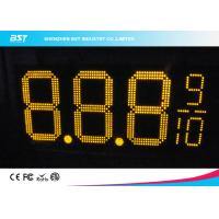 Quality Yellow Double Sided Led Gas Price Signs For Gas Stations Or Petrol Stations for sale
