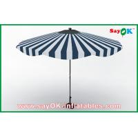 Quality Customized Beach Wood Handle Sun Umbrella Aluminum Frame Sun Protective Umbrella for sale