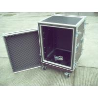 Quality 9mm Plywood 22U Rack Flight Case Durable Easily Stored Upright With Reinforced Corners for sale