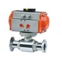 Explosion Proof Hygienic Ball Valves , Pneumatic Operated Ball Valve 3/4 ASME BPE for sale