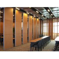 Quality Multi Color Wood Sound Proof Partitions with Aluminium Profile / Sliding Room Dividers for sale